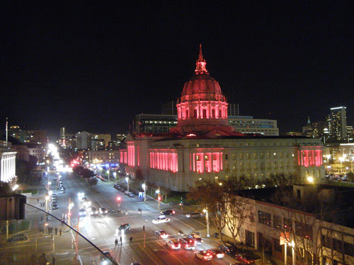DSCN7460_ San Francisco City Hall & Opera House, seen from Symphony Hall, 30 Nov 2013