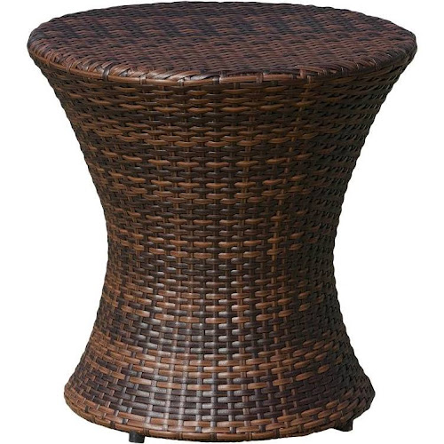 Home Loft Concept W5475929 Adriana Outdoor Wicker Accent Table