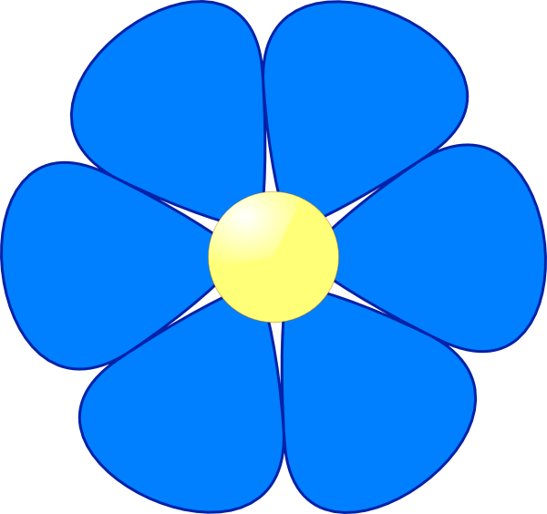 Free Blue Flower Clipart Download Free Clip Art Free Clip Art On
