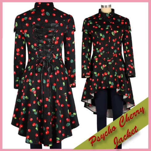PsychoBilly Retro Cherry Coat