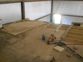 Barn Loft Northwest Corner Floor Joists