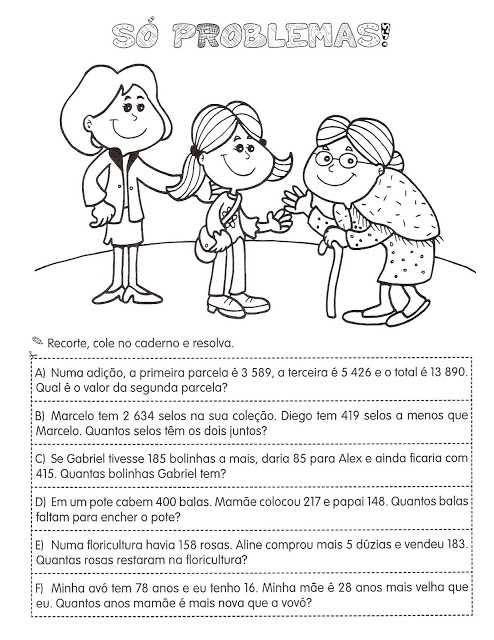 Atividades De Matematica 4 Ano Exercicios Para Imprimir