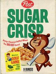 Sugar Crisp cereal box