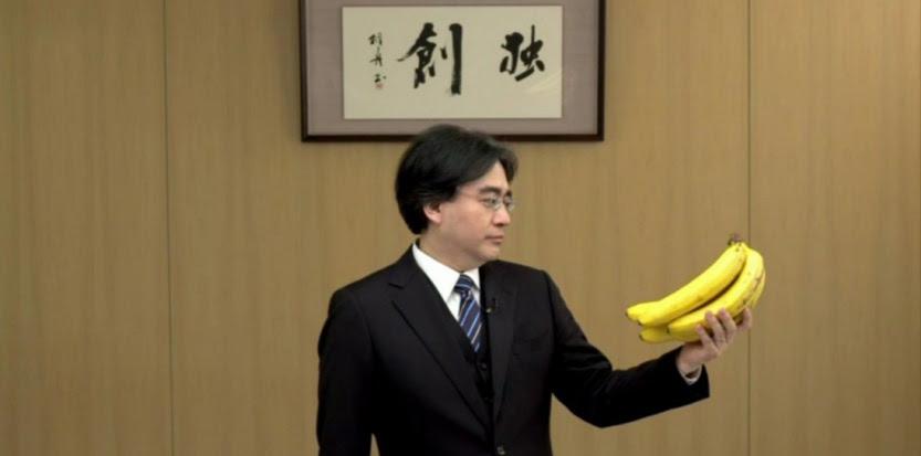 Satoru Iwata, PDG de Nintendo, et ses bananes