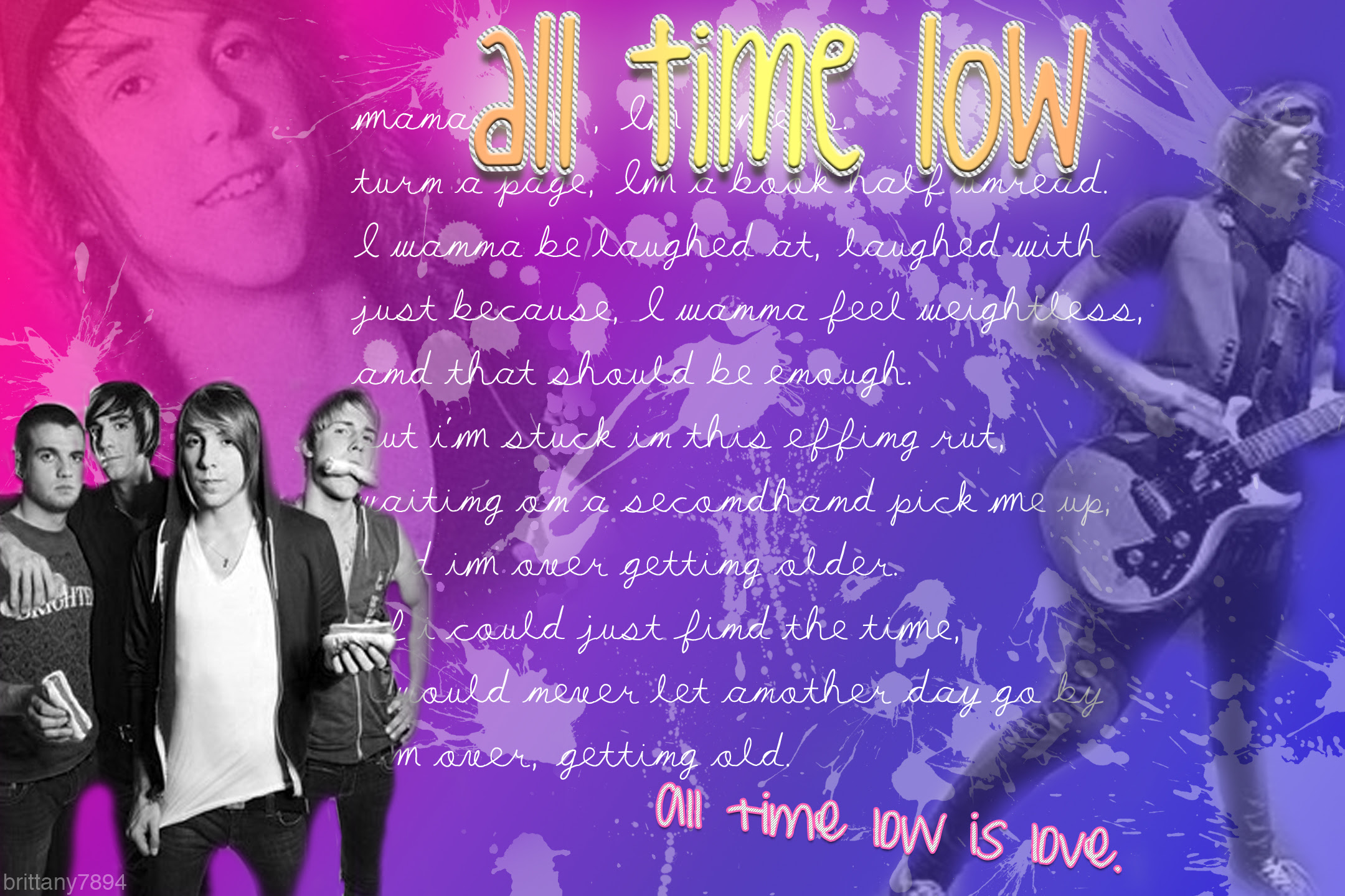 All Time Low Wallpaper All Time Low Photo 8917164 Fanpop