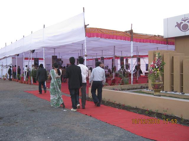 Visit to Wisteriaa - 2 BHK & 3 BHK Flats, at Bhumkar Wasti, near New Poona Bakery, at Wakad Pune 411 057 -  pandal at site
