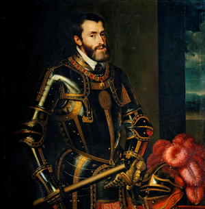 Portrait of Charles V (1500-1558) with a Baton