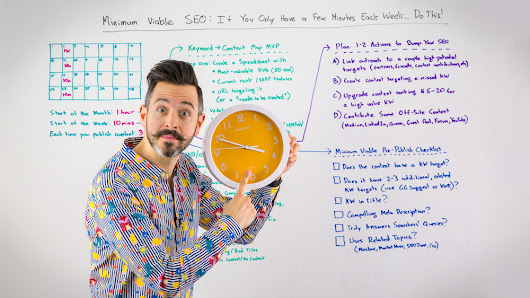 Minimum Viable SEO: If You Only Have a Few Minutes Each Week... Do This! - Whiteboard Friday
