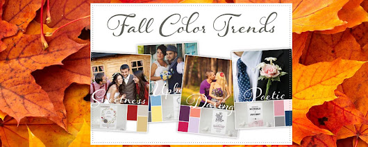 """Fall"" In Love With Fall Wedding Colors"