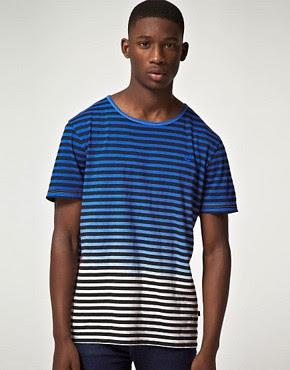 Image 1 ofGio Goi Contraband Edren Dye Stripe T-Shirt
