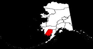 Location of the Dillingham Census Area in Alaska