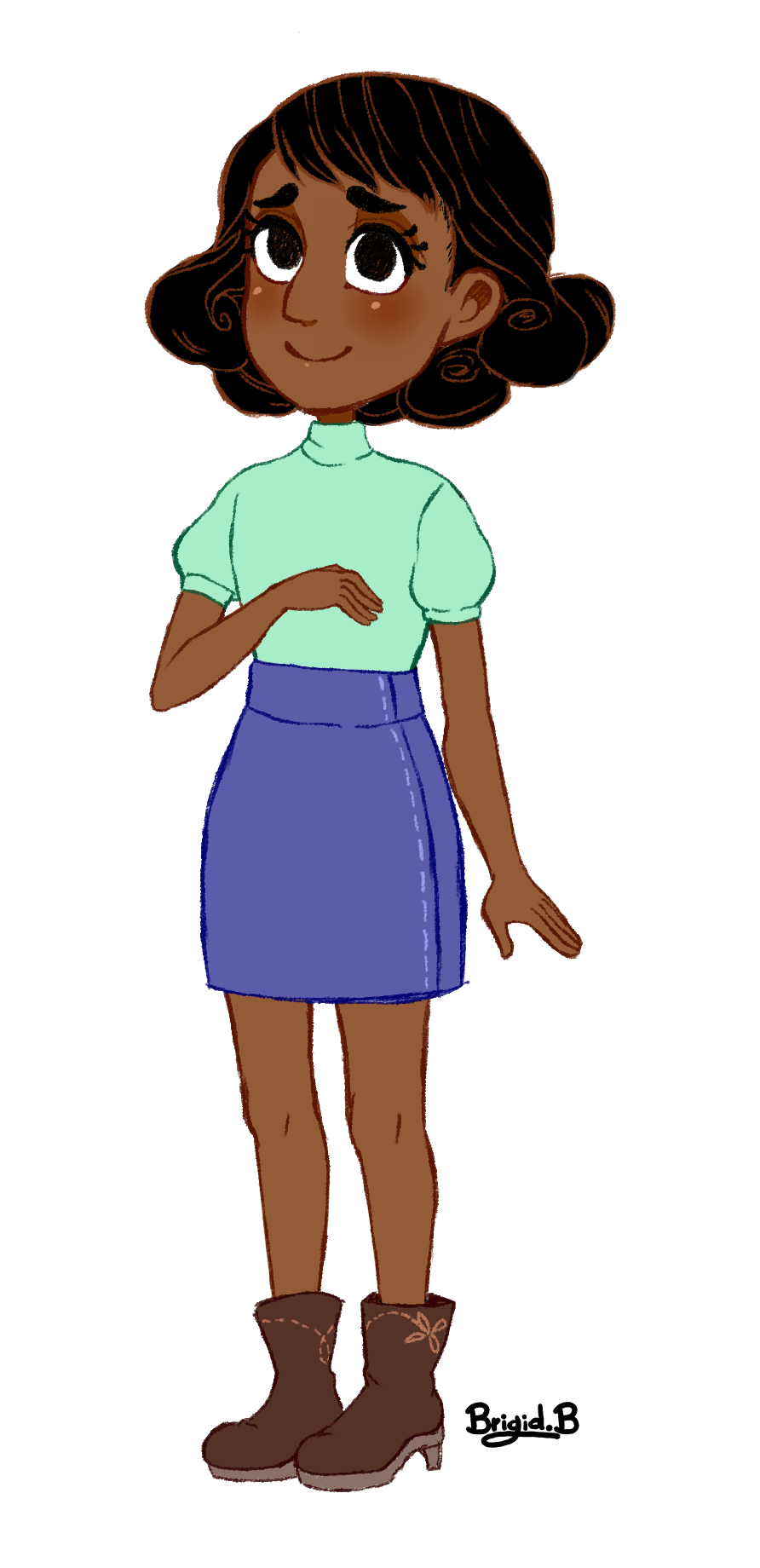 Connie's new hairstyle is so cute.