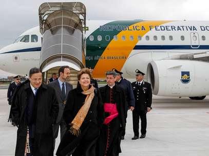 A comitiva brasileira foi acompanhar a primeira cerimônia oficial do Papa Francisco Foto: Roberto Stuckert Filho/Presidência da República / Divulgação