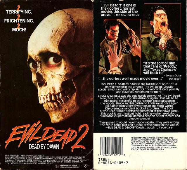 Evil Dead 2 (VHS Box Art)