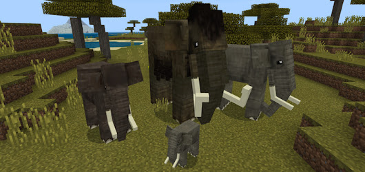 Elephants and Mammoths Add-on (1.8+ Only)