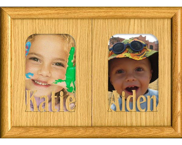 Double Name Matte Name Picture Frames