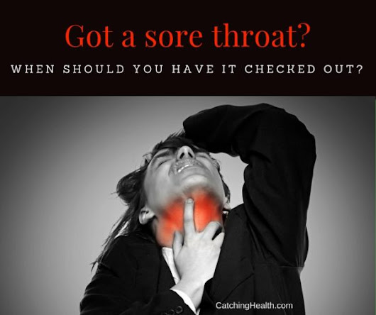 When should you see a doctor for a sore throat?