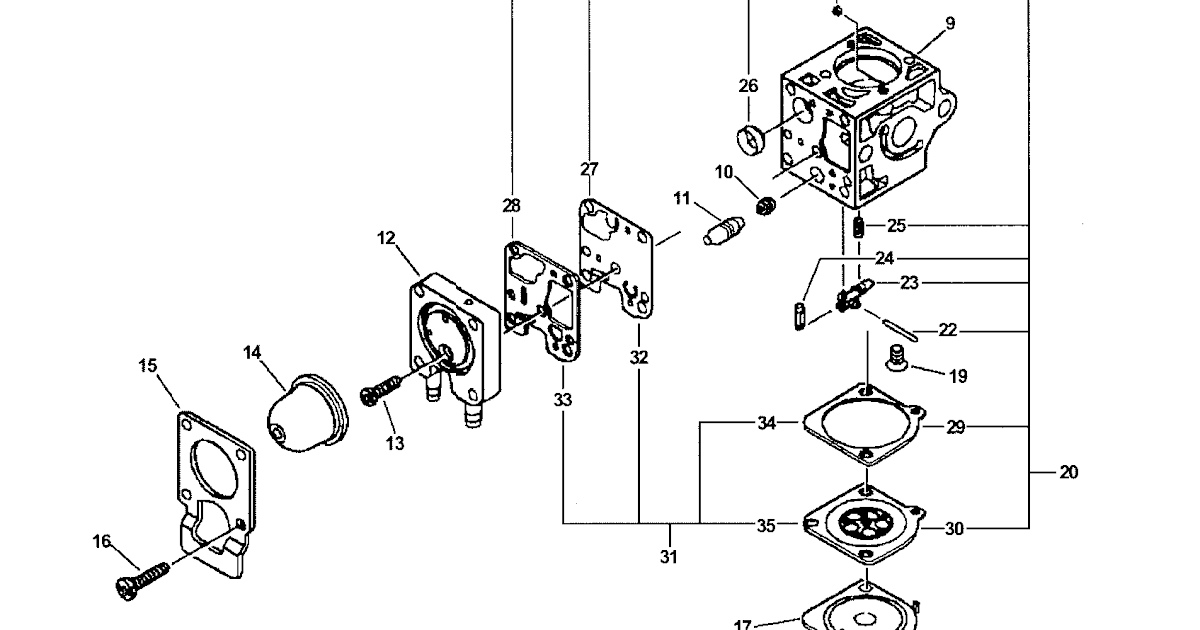 Wiring Diagram Database: Echo Weed Eater Carburetor Diagram
