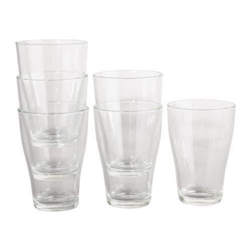 IKEA 365+ Glas IKEA Kan staplas i varandra för att spara plats i skåpet när de inte används.