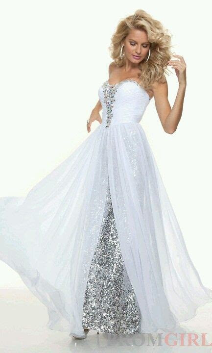Silver and white dress!   All things Silver&White   Prom