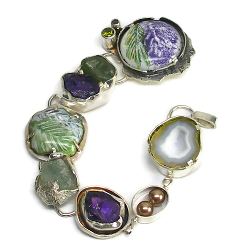 Statement Art Bracelet | Laura Stamper Designs/Art jewelry/Minnesota