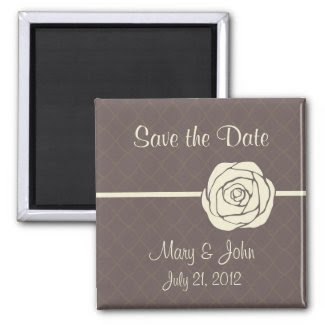 Vintage Save the Date Magnet