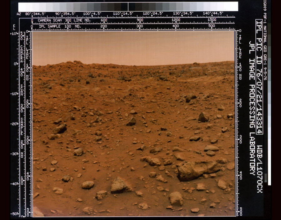 Viking spacecraft view of Mars, January 1985