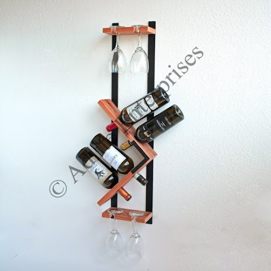 Wine Rack Wall Mounted Wine Rack Wood Wine Rack by AdliteCreations