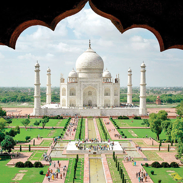 The Taj Mahal is among the top attractions for tourists visiting India
