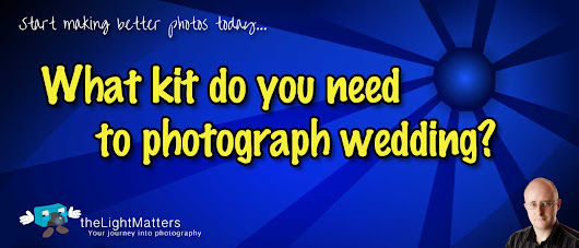 What equipment do I need to photograph weddings?