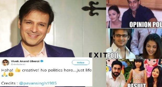 Vivek Oberoi Shares a Exit Polls Meme On Aish Salman and Himself and Twitterati says Phir Pitega