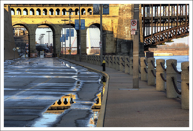 Snow Melt Eads Bridge
