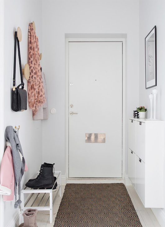 making the most of a tiny foyer