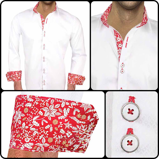 Mens Holiday Dress Shirt : Noel