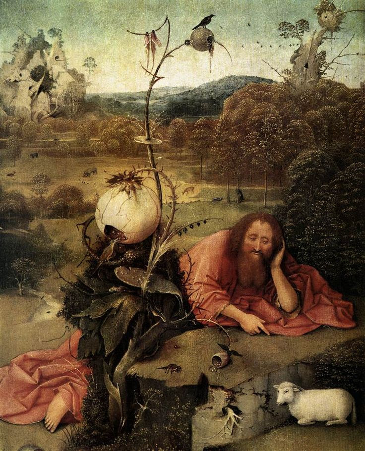 St John the Baptist in the Wilderness - Hieronymus Bosch  -