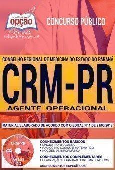 Apostila Concurso CRM PR 2018 | AGENTE OPERACIONAL