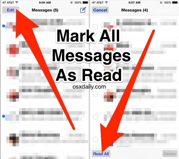 How to Mark All iMessages as Read on iPhone & iPad Instantly