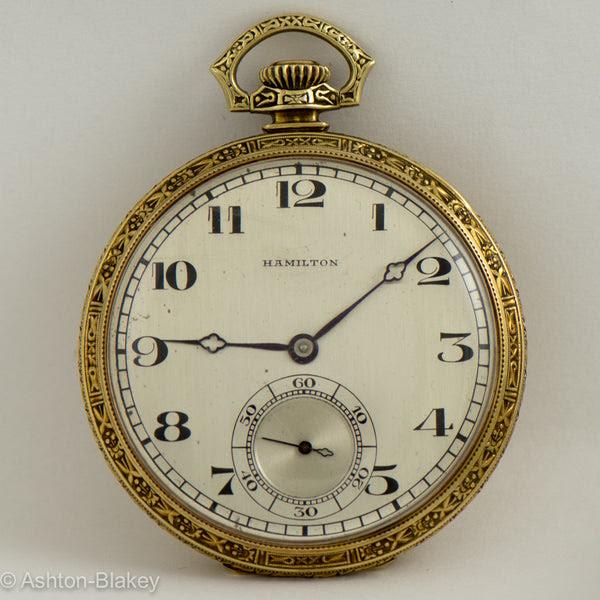 Hamilton 14k Gold Pocket Watch Ashton Blakey Vintage Watches