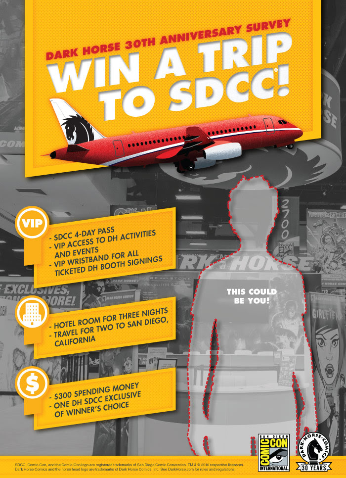 Comic Con: win a free trip to Comic Con from Dark Horse