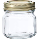 Anchor Hocking Glass Home Canning Jars with Metal Lid, 1/2 Pint - 12 count