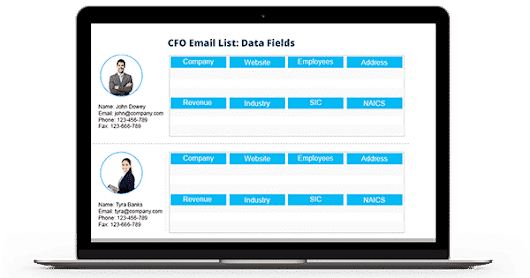 CFO Email List - CFO Mailing List - Chief Financial Officers Database
