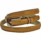Luxury Divas Gold Skinny Faux Patent Leather Belt