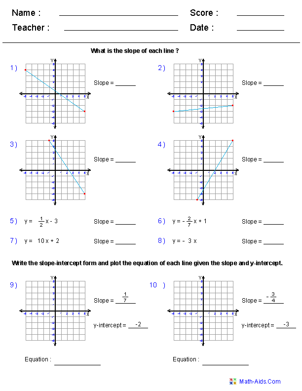 Geometry Worksheets Coordinate Worksheets With Answer Keys