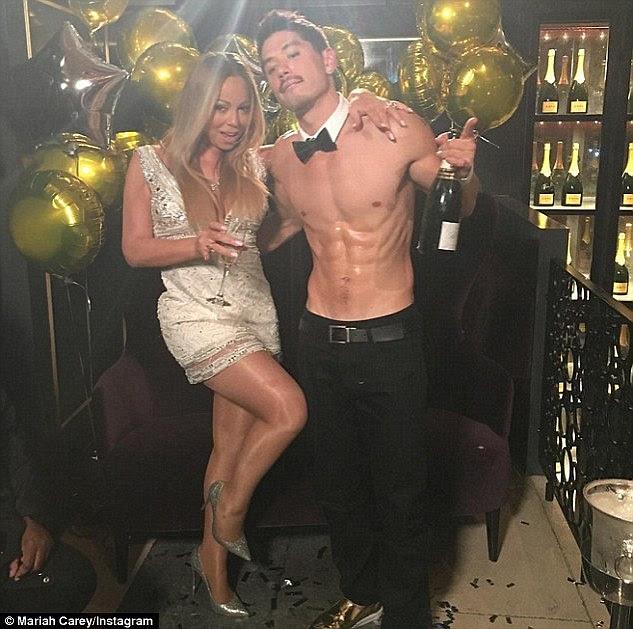 Bottoms Up!  Mariah passou muito tempo com back-up dançarino Brian em turnê, mas que tem sido afirmado que James estava preocupado com o quão perto os dois estavam ficando