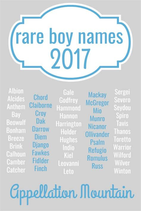 rare boy names   great eights appellation mountain