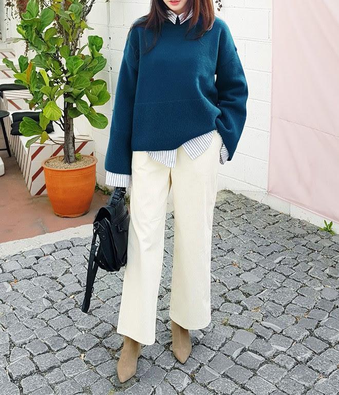 Áo len dáng rộng đang là mốt, và đây là những cách kết hợp vừa ấm vừa chất mà bạn có thể tham khảo - Ảnh 13.
