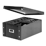 Storage Box- CD- 10-.25in.x13-.75in.x6in.- 60 CDs- Leather Like- Black DY18481