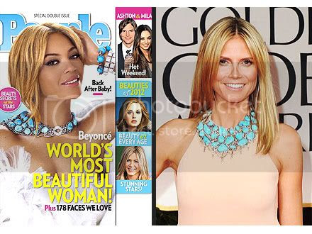 Fashion War Beyonce vs Heidi Klum Lorraine Schwartz Necklace