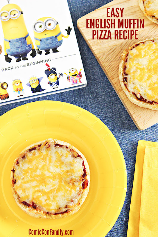Easy English Muffin Pizza Recipe for Movie Night - Comic Con Family