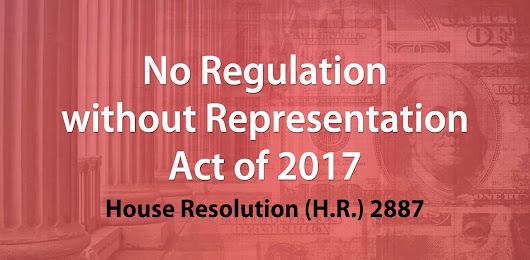 No Regulation without Representation - H.R. 2887 Sales Tax Bill